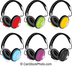 vector illustration headphones
