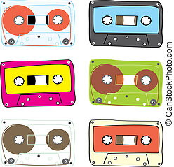 vector audio cassette - fully editable vector audio cassette...