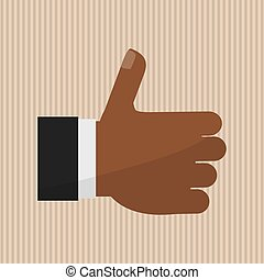 thumbs up icon design - thumbs up concept with icon design,...