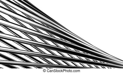 Poles Abstract - Silver Poles Abstract On White...
