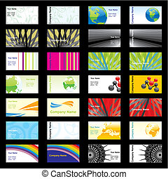 vector visit cards with different layouts - fully editable...