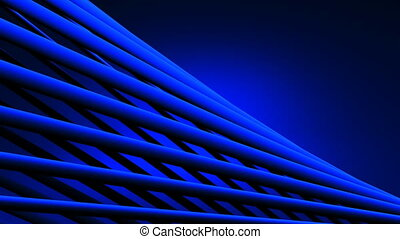 Poles Abstract - Blue Poles Abstract On Blue Background....