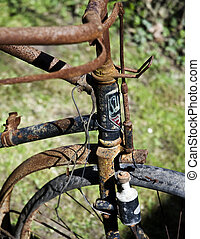 to old to ride - old, rusty bike