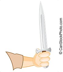 Sharp blade in hand of the person