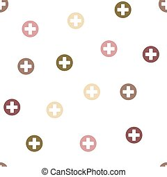 Medical Cross Seamless Flat Vector Pattern