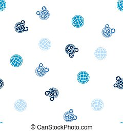 Global Health Care Seamless Flat Vector Pattern