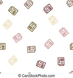 Medical Newspaper Seamless Flat Vector Pattern