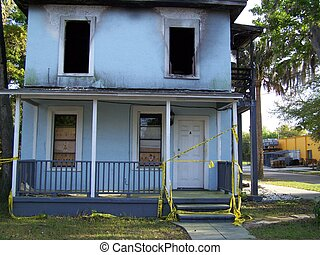 Burned Down Drug House - This house in Florida was not only...