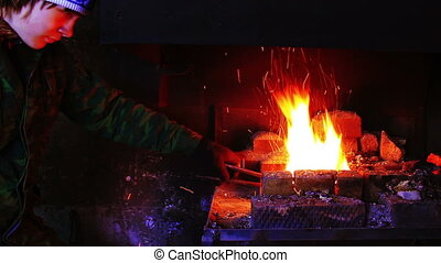 Forging Fire For Heating Metal