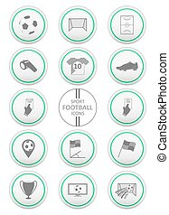 Soccer. Football and sport icons set.