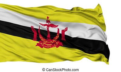 Isolated Waving National Flag of Brunei - Brunei Flag...