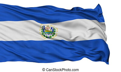Isolated Waving National Flag of El Salvador - El Salvador...