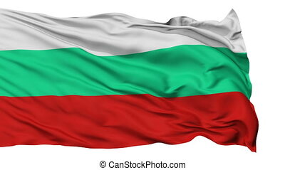 Isolated Waving National Flag of Bulgaria - Bulgaria Flag...