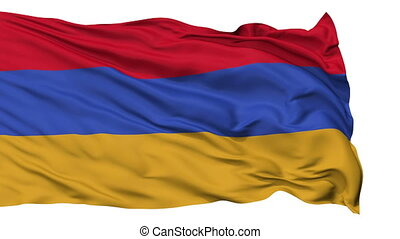 Isolated Waving National Flag of Armenia