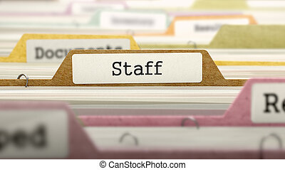 Staff Concept. Folders in Catalog. - Staff Concept. Colored...