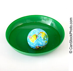 Globus toy ball - Picture of a Globus toy ball in a green...
