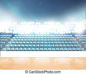 Generic Floodlit Stadium - A generic indoor stadium with an...