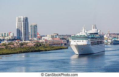 Cruise Ship Leaving Tampa Bay