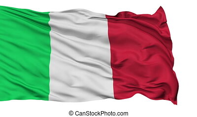 Isolated Waving National Flag of Italy - Italy Flag...