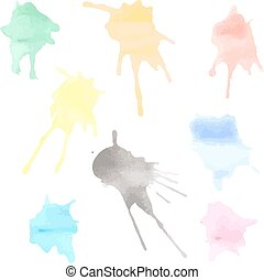 Watercolor Blobs - Set of watercolor blobs