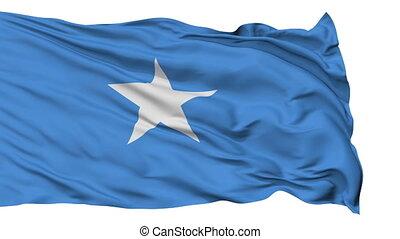 Isolated Waving National Flag of Somali - Somali Flag...