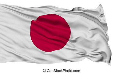 Isolated Waving National Flag of Japan - Japan Flag...