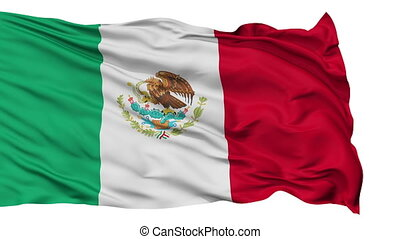 Isolated Waving National Flag of Mexico - Mexico Flag...