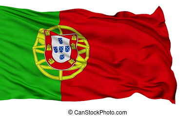 Isolated Waving National Flag of Portuguese - Portuguese...