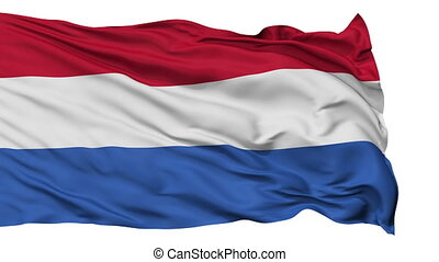 Isolated Waving National Flag of Netherlands Dutch -...