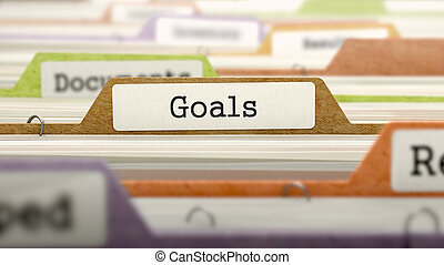 Goals Concept on Folder Register - Goals Concept on Folder...