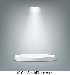 Illuminated round pedestal - Illuminated round stage podium...