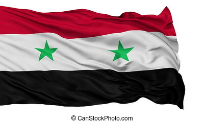 Isolated Waving National Flag of Syria