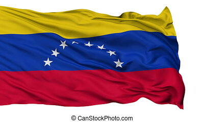 Isolated Waving National Flag of Venezuela - Venezuela Flag...