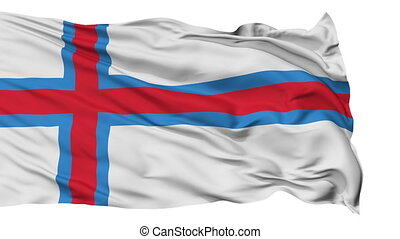 Isolated Waving National Flag of Faroe Islands - Faroe...