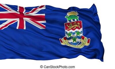 Isolated Waving National Flag of Cayman Islands - Cayman...