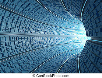 Tunnel / Concept Of Technology - Inside a futuristic tube...