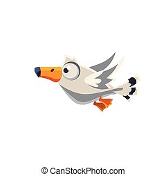 Cute Great Albatross - Vector Design Cute Great Albatross...