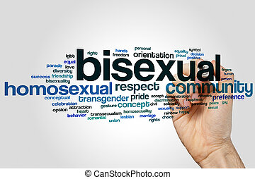 Bisexual word cloud concept