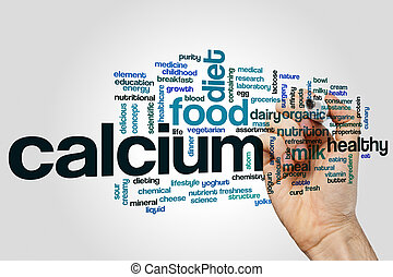 Calcium word cloud - Calcium concept word cloud background