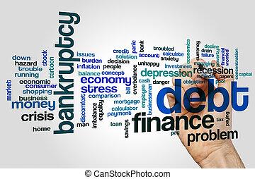 Debt word cloud concept