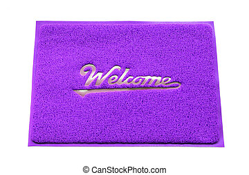 Welcome capet isolated on white background.
