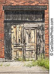 old black door - old black woody door with shabby paint