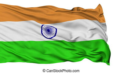 Isolated Waving National Flag of India - India Flag...