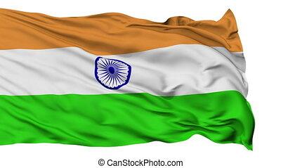 Isolated Waving National Flag of India - India Flag...