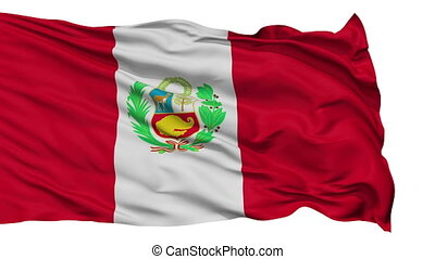 Isolated Waving National Flag of Peru - Peru Flag Realistic...