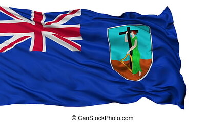 Isolated Waving National Flag of Montserrat - Montserrat...