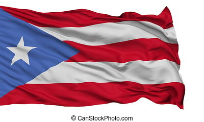 Isolated Waving National Flag of Puerto Rico - Puerto Rico...