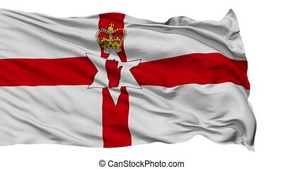 Isolated Waving National Flag of Northern Ireland - Northern...