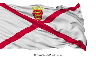 Isolated Waving National Flag of Jersey - Jersey Flag...
