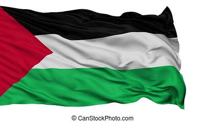 Isolated Waving National Flag of Palestine - Palestine Flag...